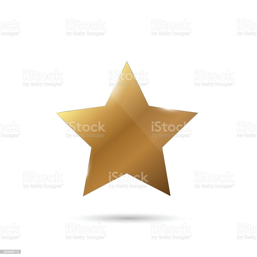 Shiny Gold Star Illustration royalty-free shiny gold star illustration stock vector art & more images of abstract