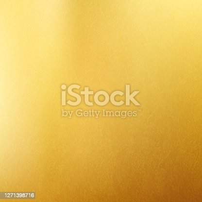 istock Shiny gold texture paper or metal. Golden vector background. 1271398716