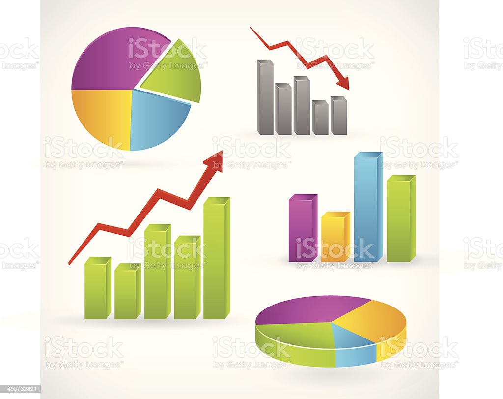 Shiny graph positive infographic royalty-free stock vector art