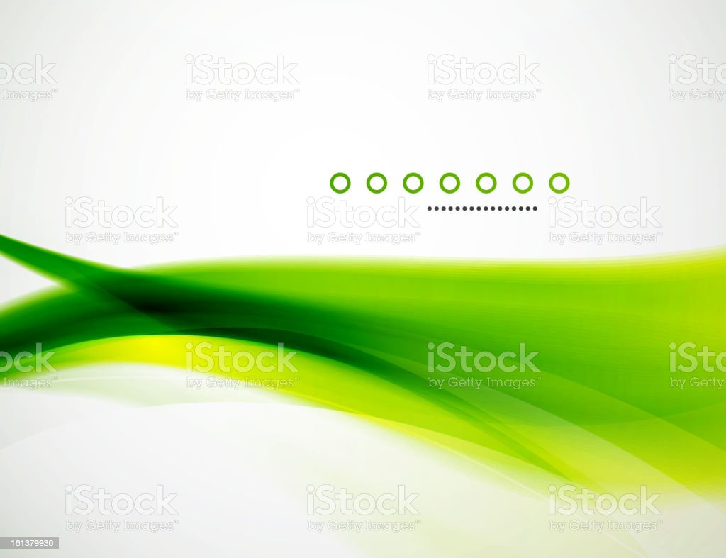 Shiny green background vector art illustration