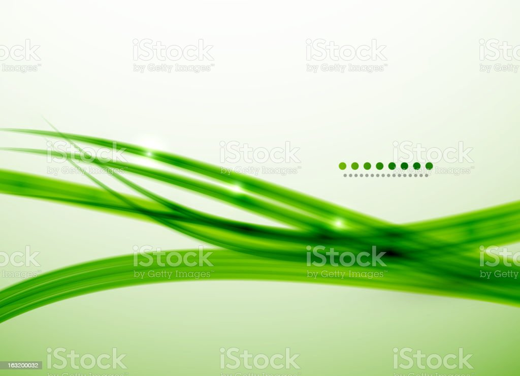 Shiny green lines background vector art illustration