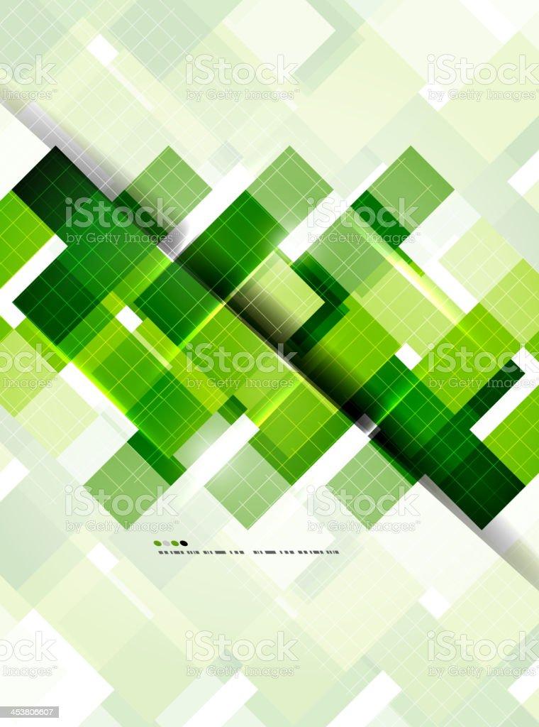 Shiny green mosaic background royalty-free stock vector art