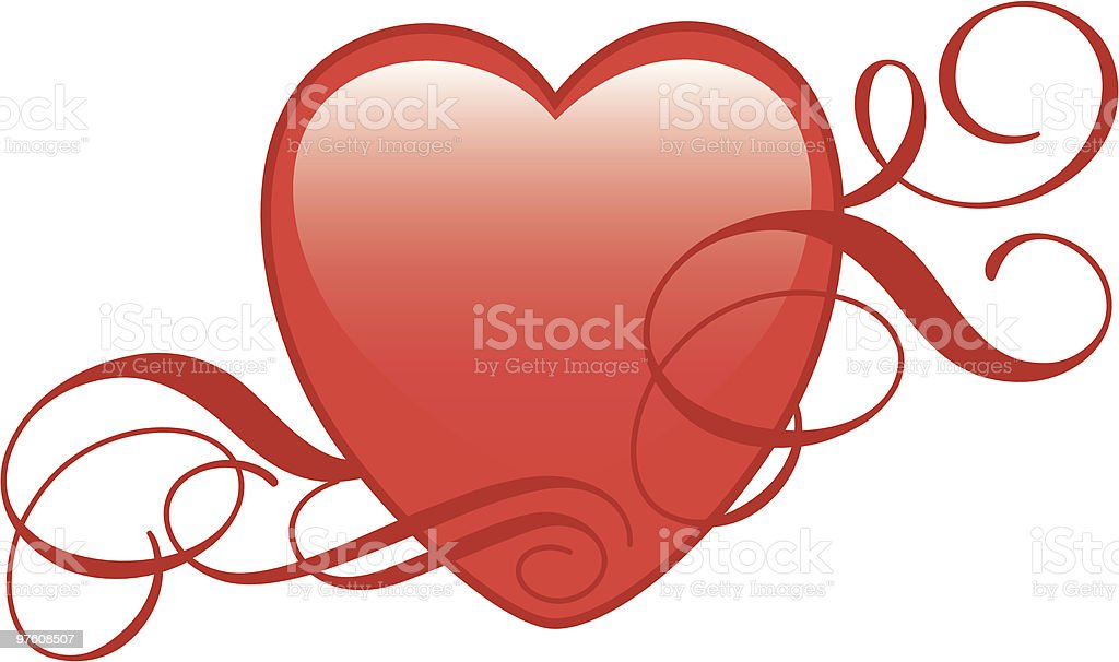 shiny heart royalty-free stock vector art