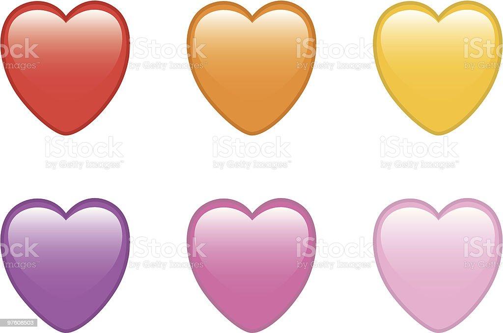 shiny hearts royaltyfri vektorgrafik i bildbank
