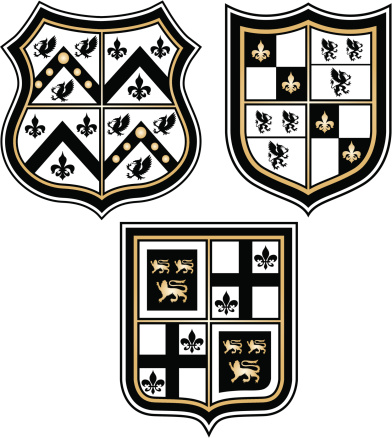 shiny heraldic emblem design