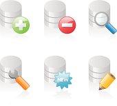 shiny icons: database actions