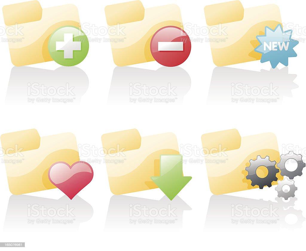 shiny icons: folder actions 2 royalty-free shiny icons folder actions 2 stock vector art & more images of activity