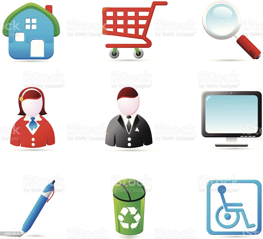Shiny Icons vector art illustration