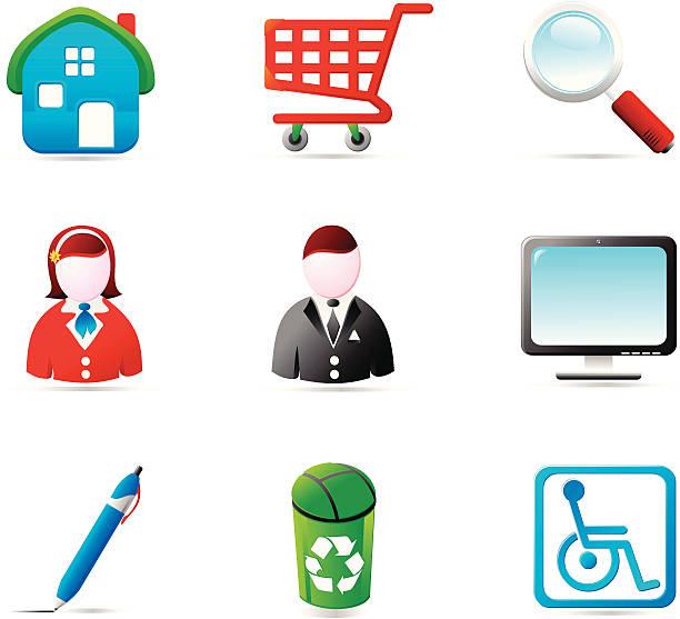 shiny icons - byteandpixel stock illustrations