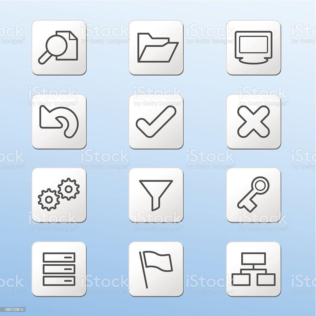 Shiny Iconset Toolbar royalty-free stock vector art