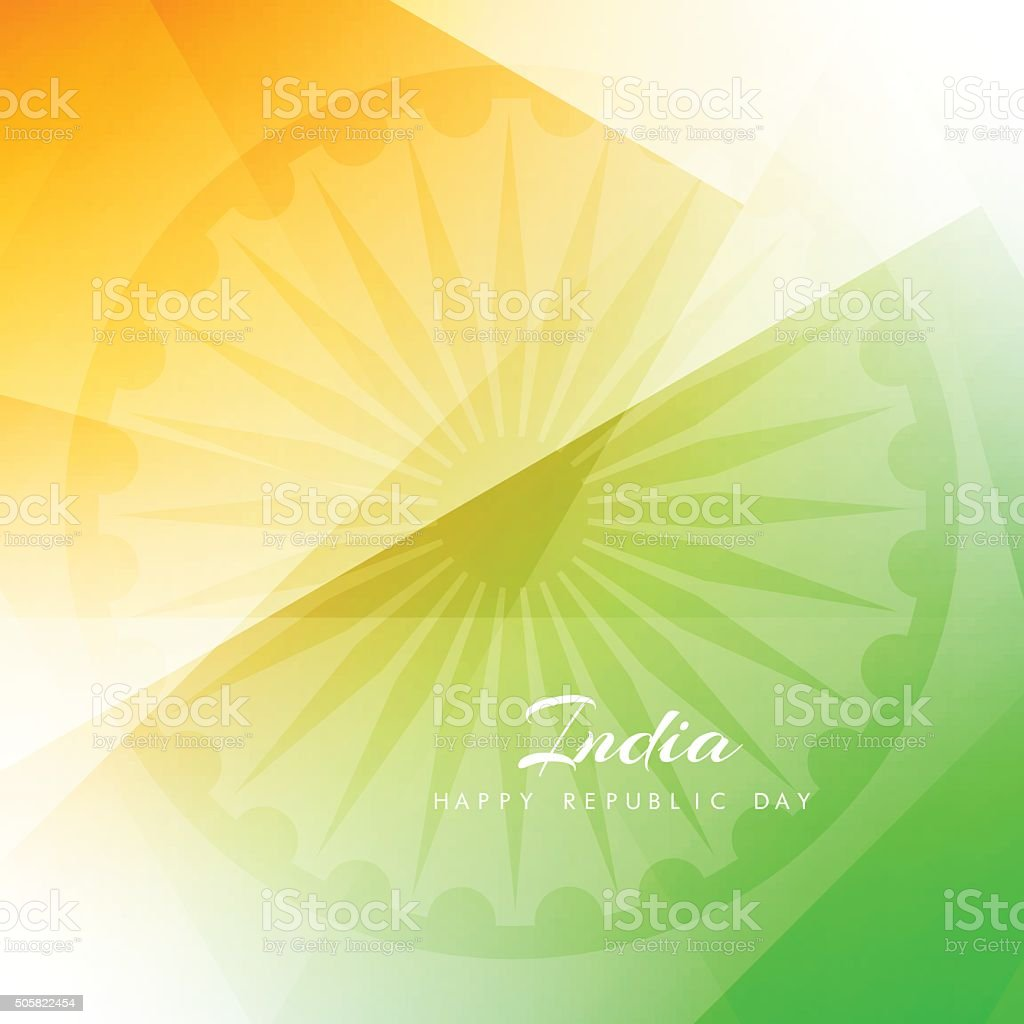 Shiny Indian flag theme design vector art illustration