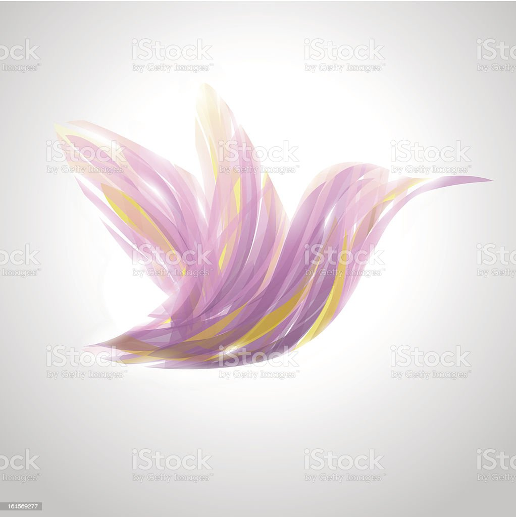 Shiny lavender striped flying hummingbird. royalty-free shiny lavender striped flying hummingbird stock vector art & more images of abstract