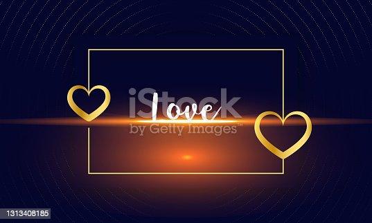 istock shiny love background,golden hearts,golden frame background 1313408185