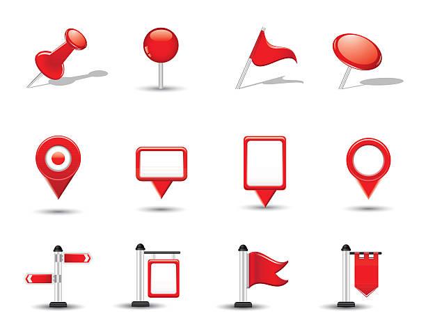 illustrations, cliparts, dessins animés et icônes de brillant carte de symboles, des drapeaux et des pins - cartes et drapeaux