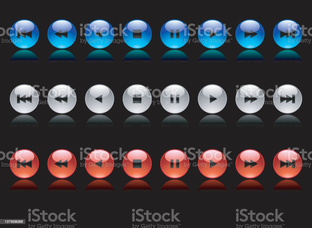 Shiny Marble Controls royalty-free stock vector art