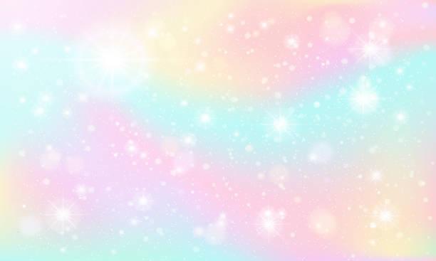 illustrations, cliparts, dessins animés et icônes de ciel de marbre brillant. ciel de fantasy féerique, étincelles colorées pastel et illustration de fond de vecteur de rêve fabuleux ciel - sky