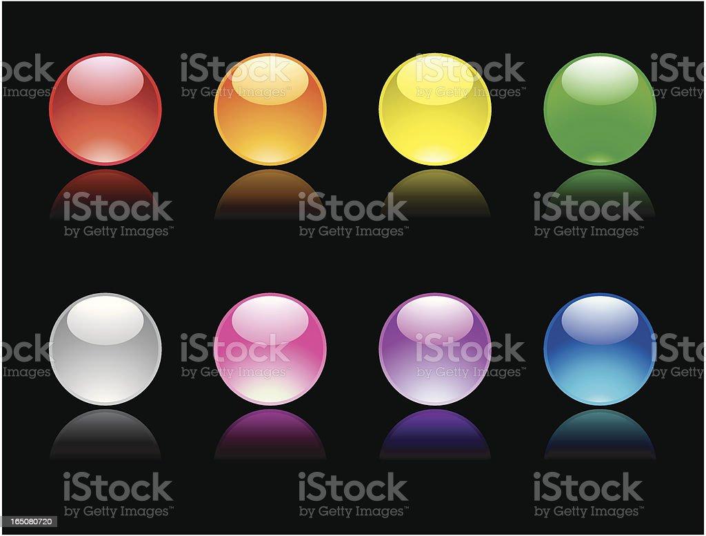 Shiny Marbles royalty-free stock vector art