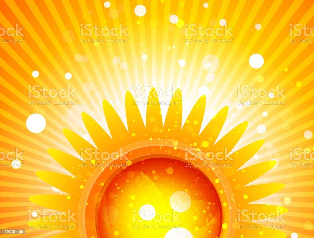 Shiny orange rays background royalty-free stock vector art