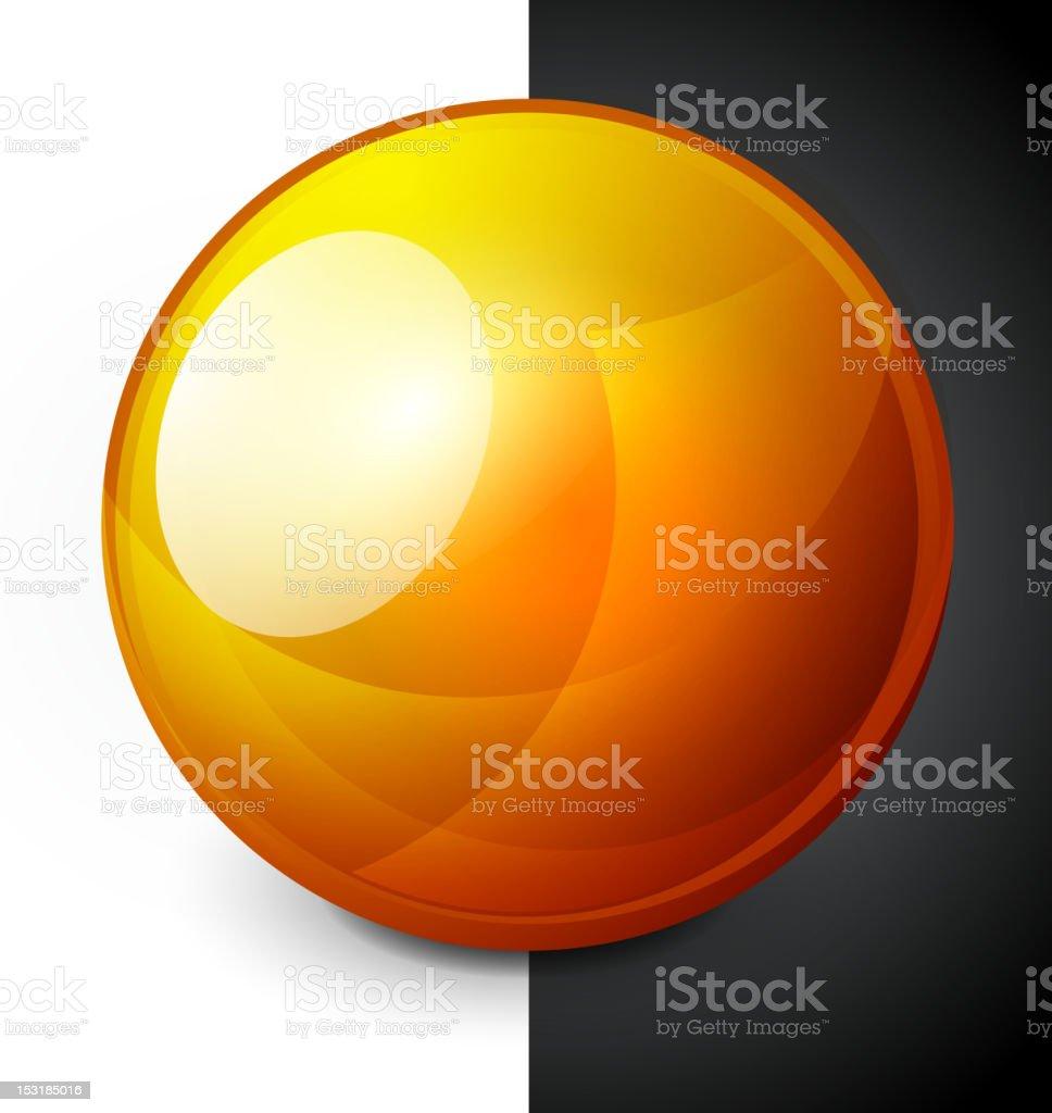 Shiny orange sphere royalty-free stock vector art
