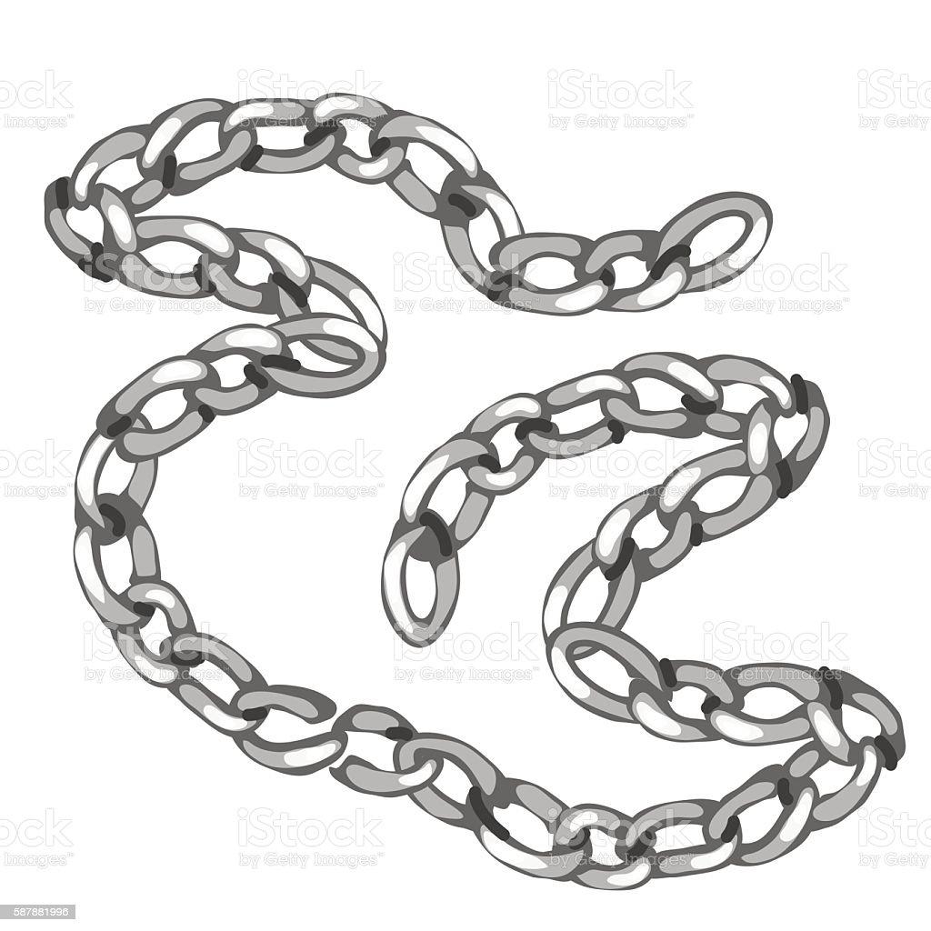 Shiny Precious Silver Chain Vector Jewelry Stock ...  Chain Vector