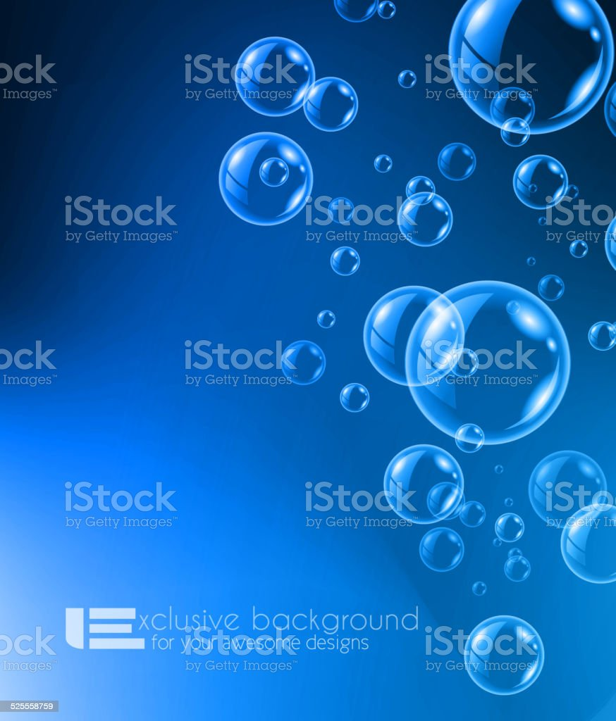 Shiny quality bubble liquid background for modern backgrounds vector art illustration