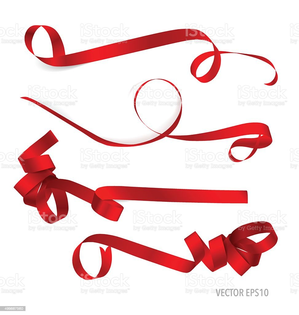 shiny red ribbon vector illustration stock vector art more images rh istockphoto com ribbon vector art free download ribbon vector clipart