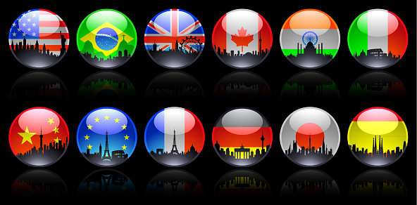 Shiny Round Flags