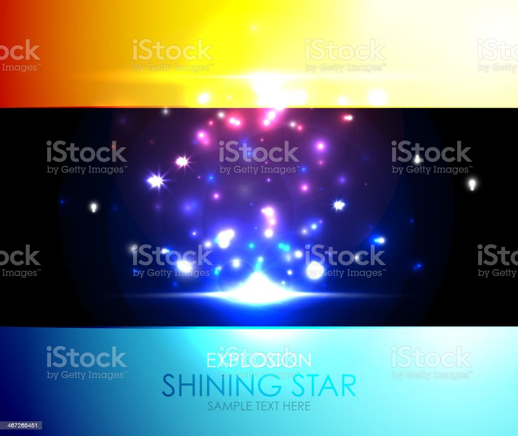 Shiny salute colorful background royalty-free stock vector art