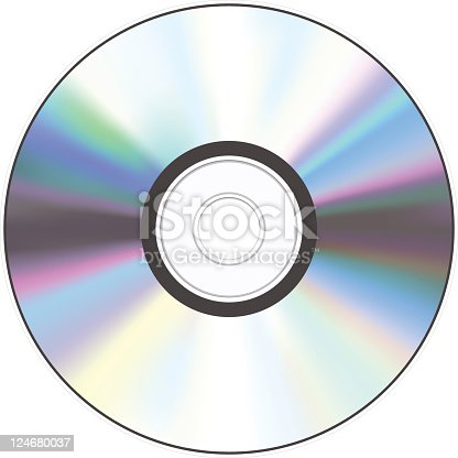 istock A shiny silver CD with a hole in the middle 124680037