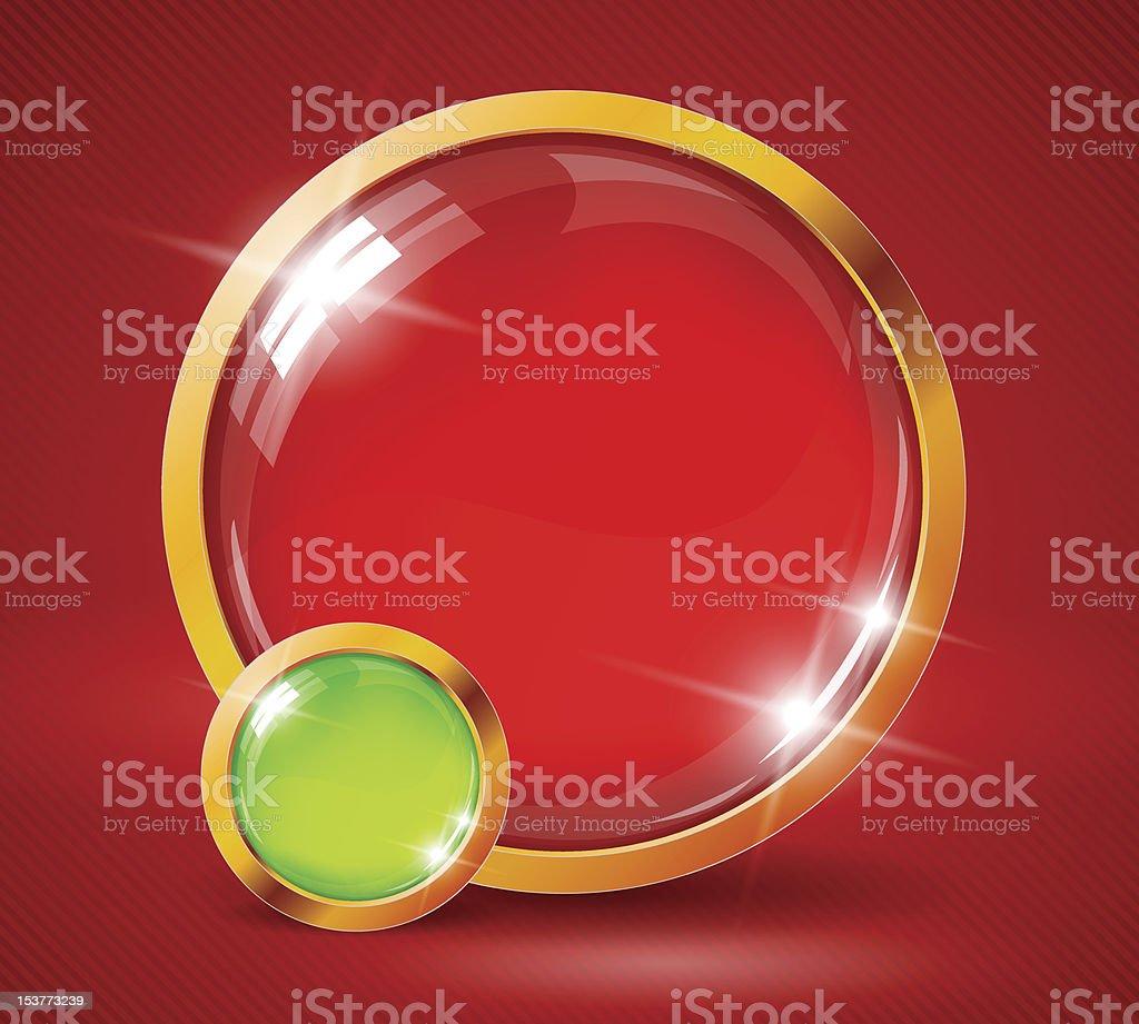 Shiny speech bubbles stock photo