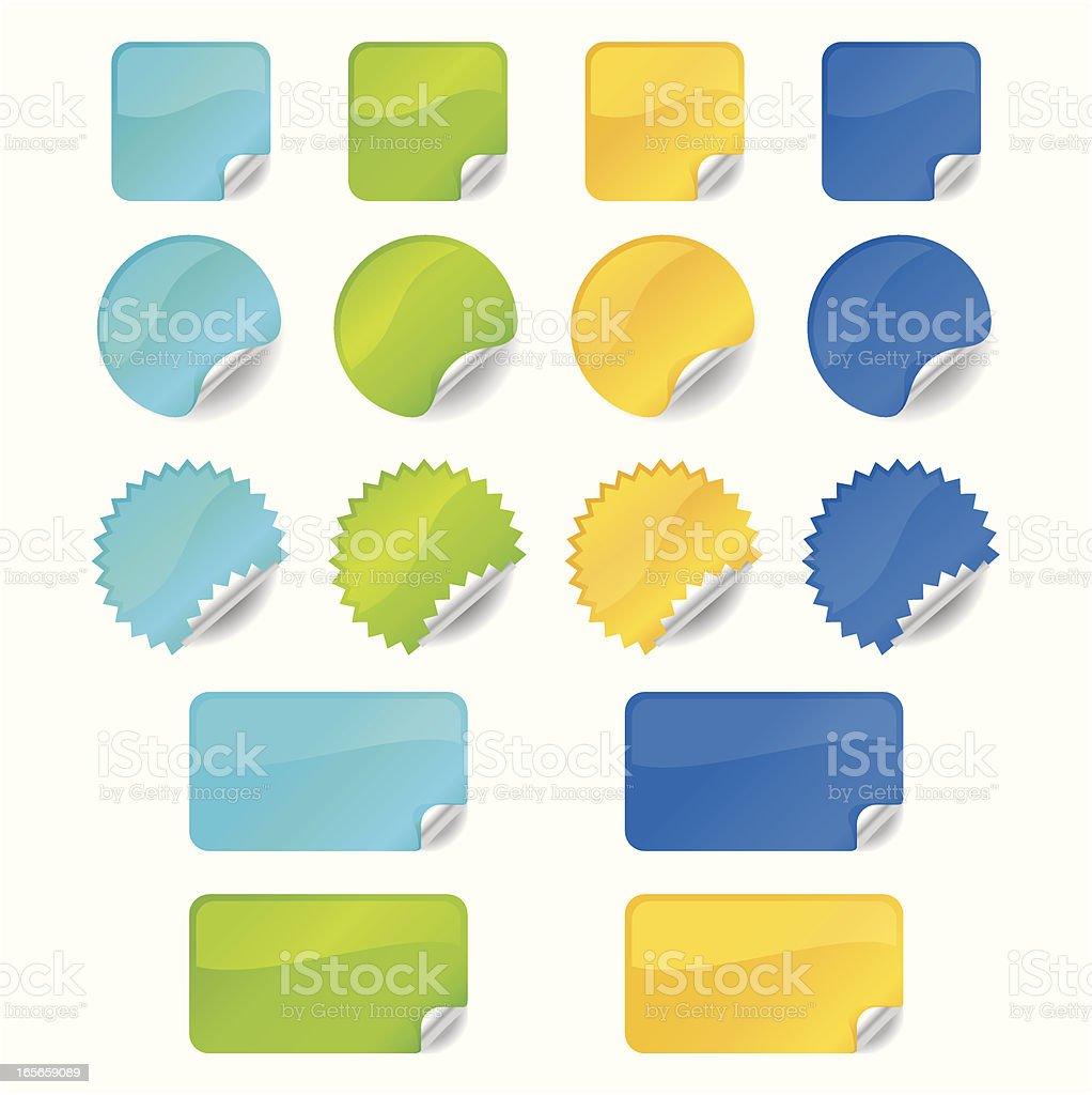 Shiny Stickers vector art illustration
