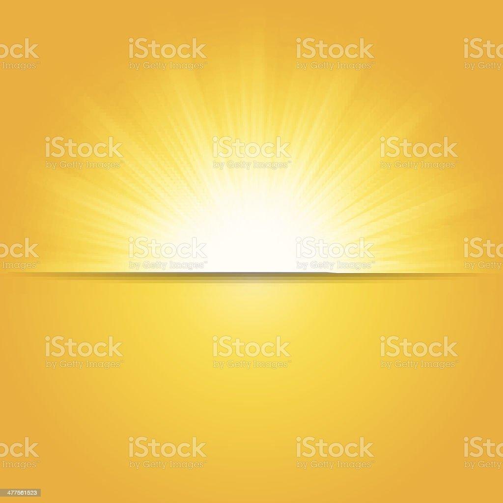 Shiny summer sun, vector illustration vector art illustration