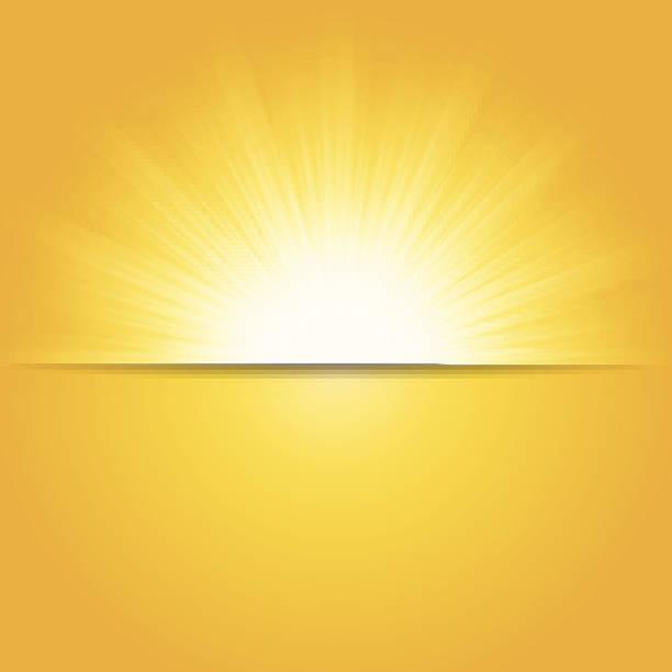 illustrazioni stock, clip art, cartoni animati e icone di tendenza di brillante sole estivo, illustrazione vettoriale - flare