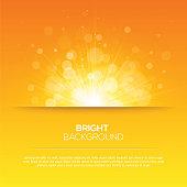 Shiny sun vector, sunbeams, sunrays, bokeh