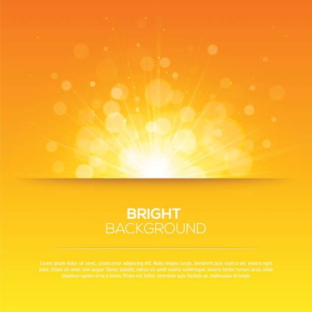 shiny sun vector, sunbeams, sunrays, bokeh - sunrise stock illustrations, clip art, cartoons, & icons
