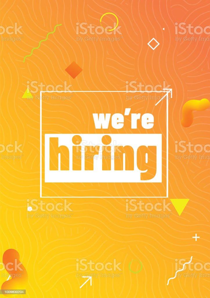 shiny template or flyer design for we are hiring job recruitment