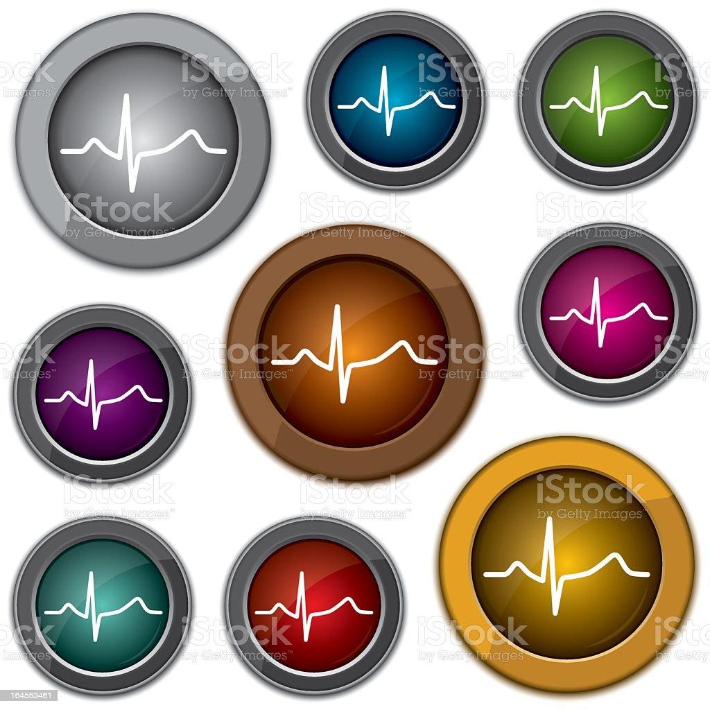 shiny textured medical web icons - vector illustration vector art illustration