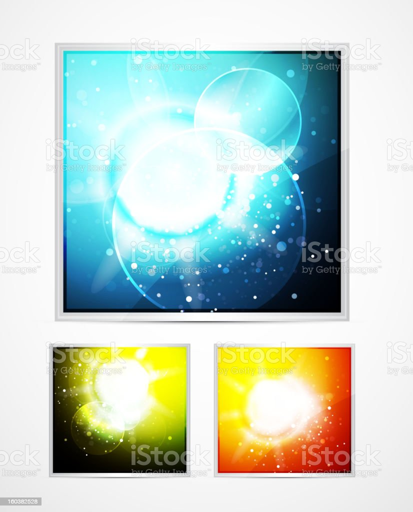 Shiny vector backgrounds royalty-free stock vector art