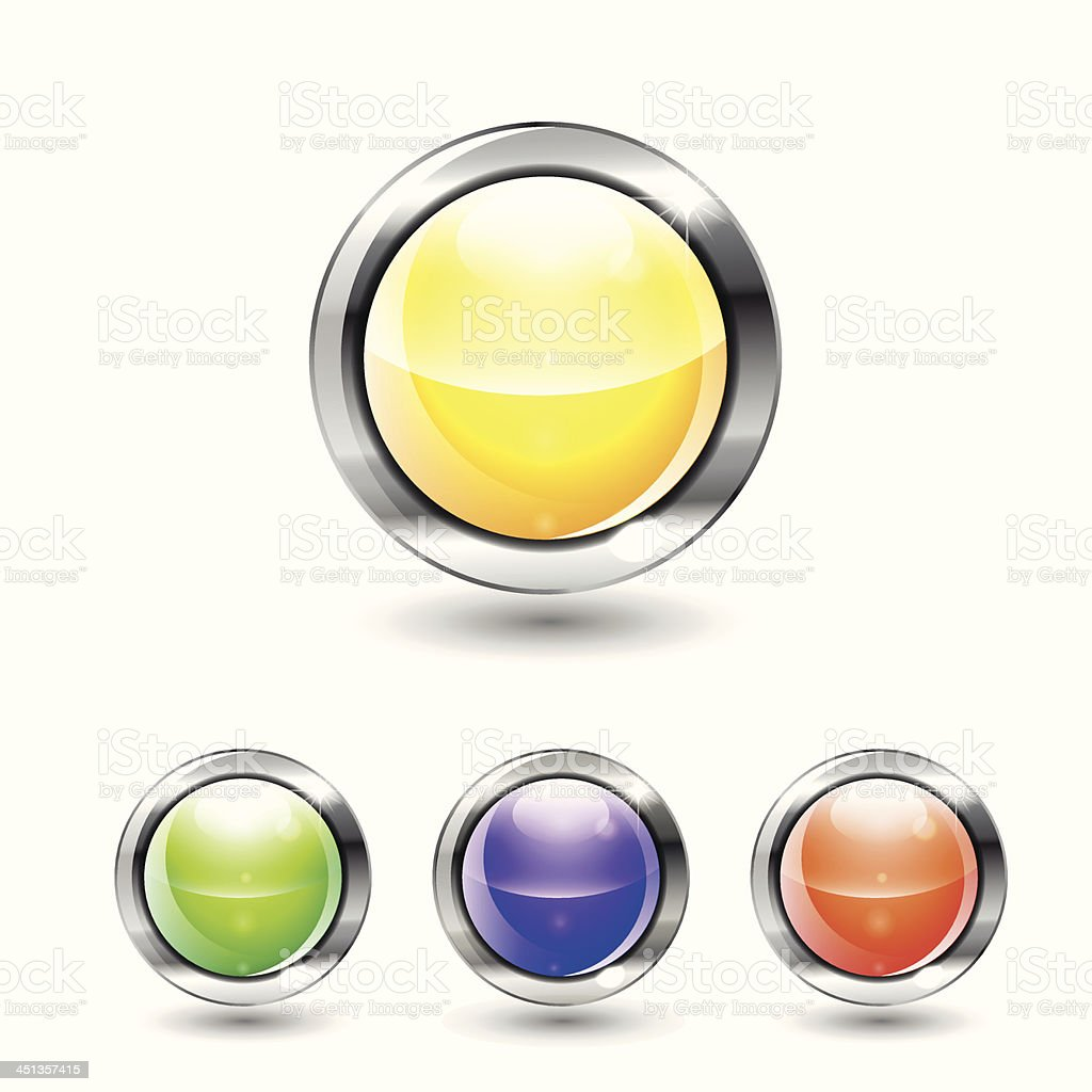 Shiny vector buttons royalty-free shiny vector buttons stock vector art & more images of abstract