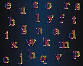 Shiny Vector Font, available all letters