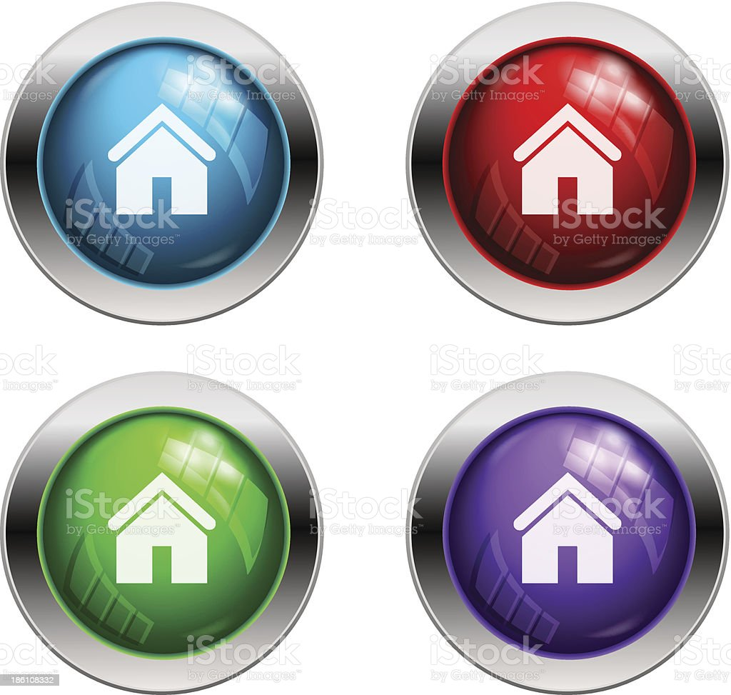 Shiny vector home buttons royalty-free shiny vector home buttons stock vector art & more images of abstract
