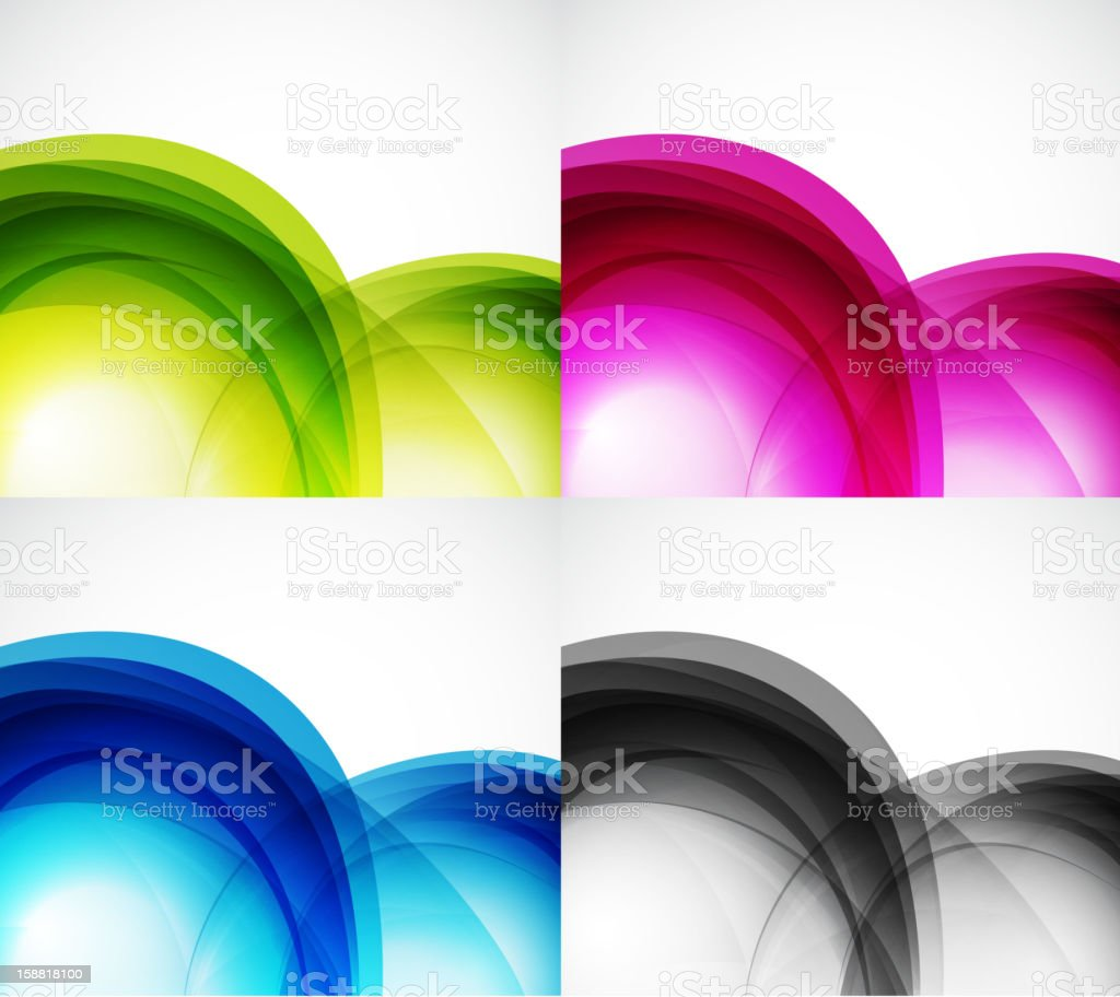 Shiny wave backgrounds royalty-free stock vector art
