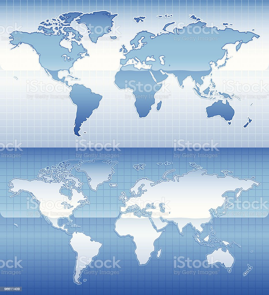 shiny world map - Royaltyfri Bildserie vektorgrafik