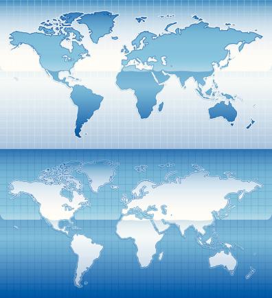 Shiny World Map-vektorgrafik och fler bilder på Bildserie