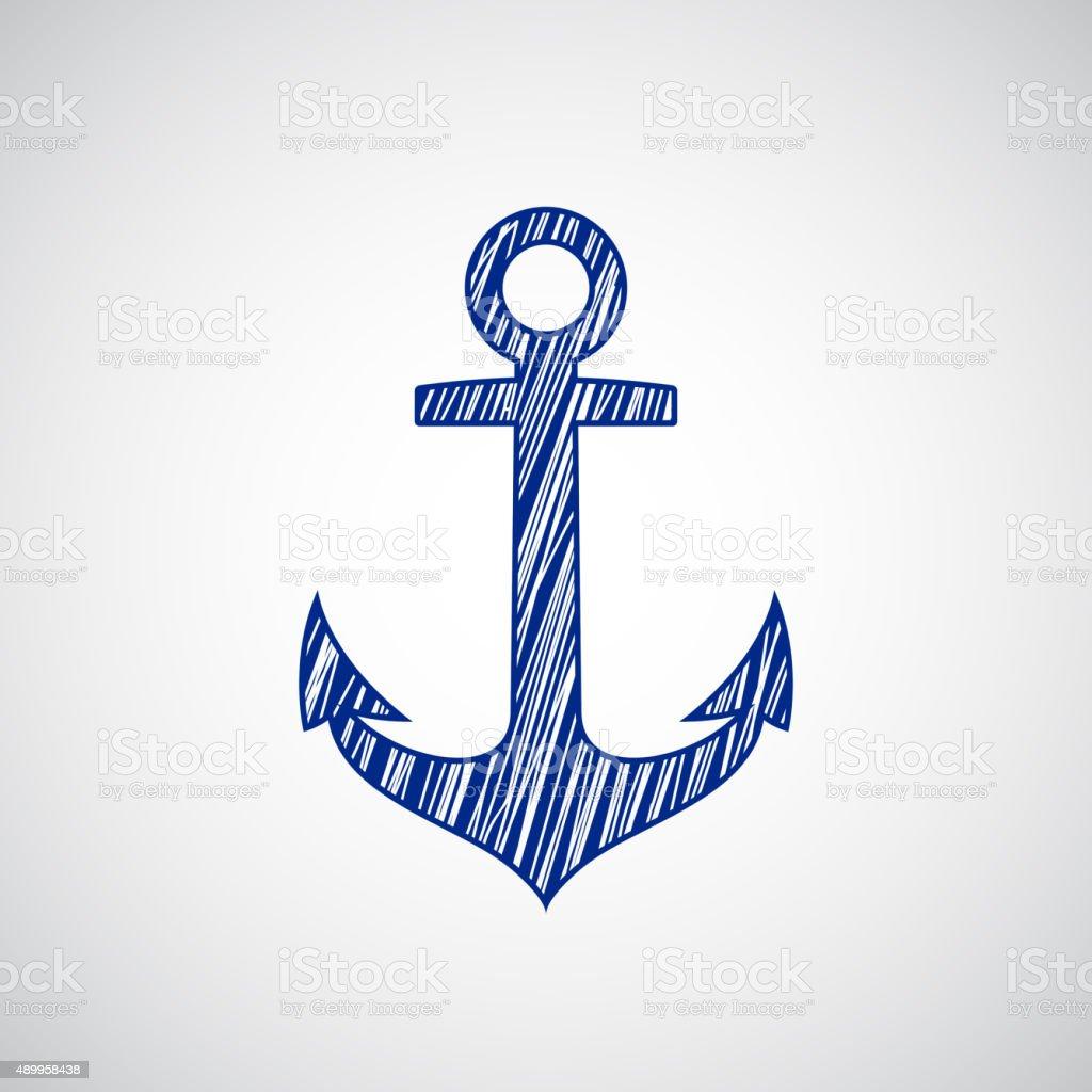 Ancre de bateaux dessin sur le papier cliparts vectoriels et plus d 39 images de 2015 489958438 - Dessin ancre bateau ...