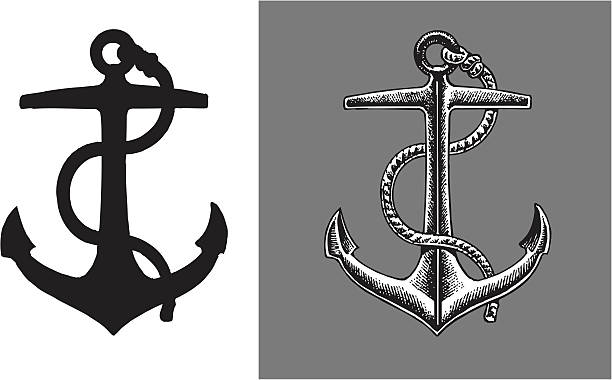 Ship Anchor vector art illustration