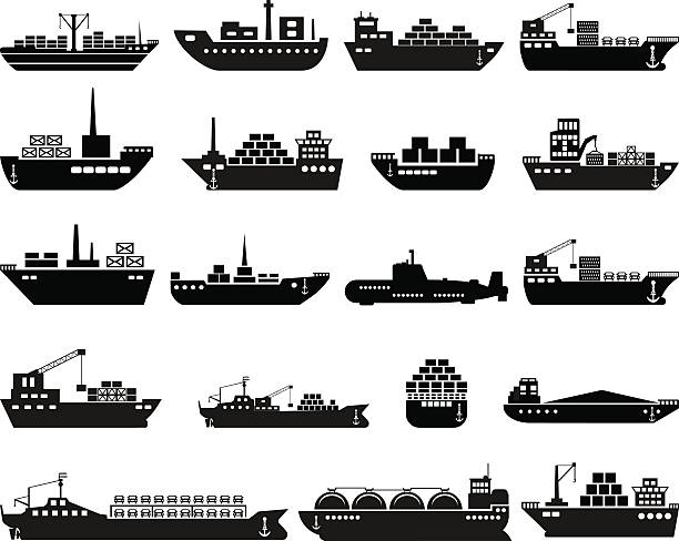 bildbanksillustrationer, clip art samt tecknat material och ikoner med ship and boat icon set. - ship