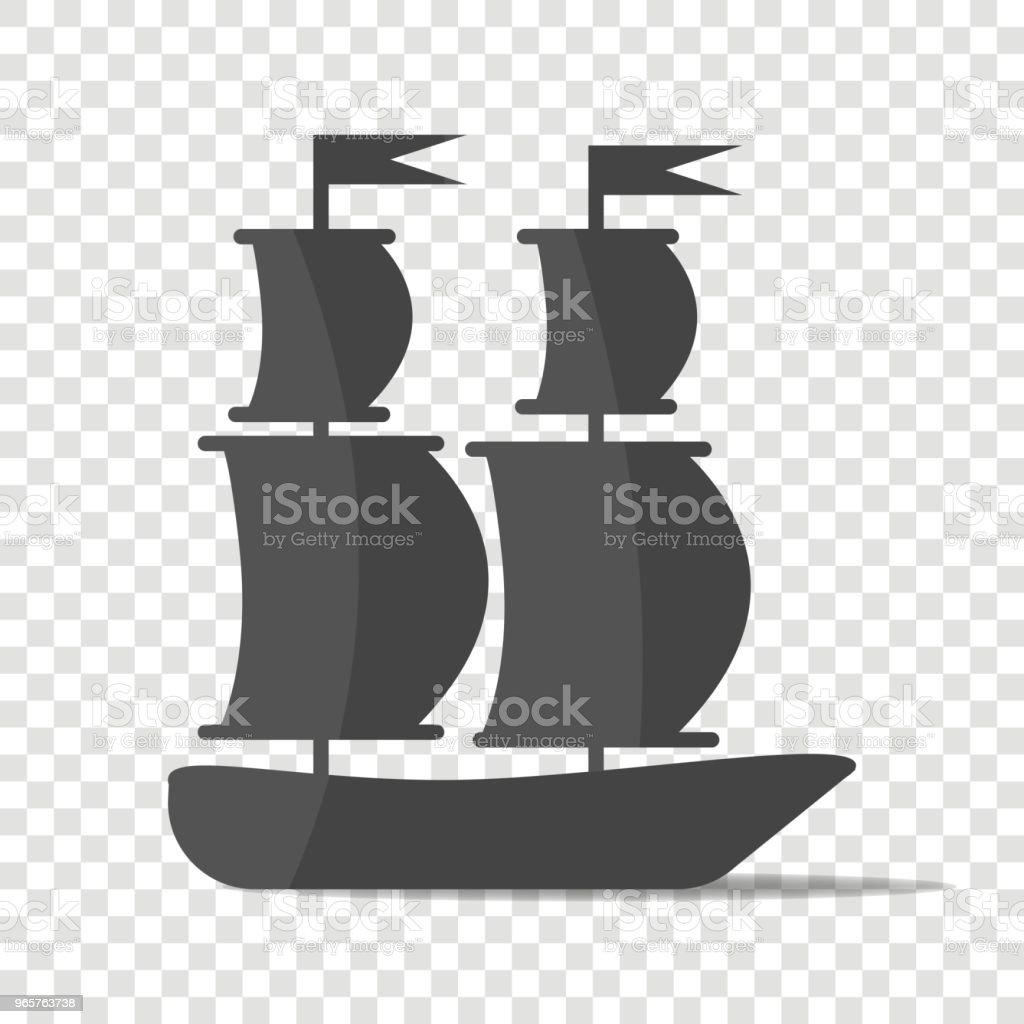 Schip, boot. Varen schip. - Royalty-free Autoriteit vectorkunst