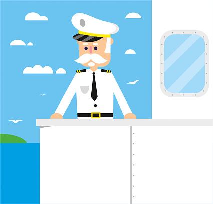 Ship captain on travel