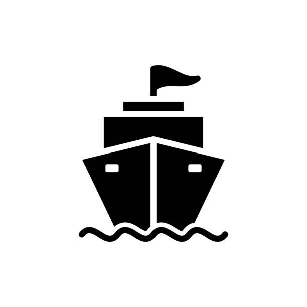 ship - cargo icon vector design template ship - cargo icon vector design template cruiserweight stock illustrations